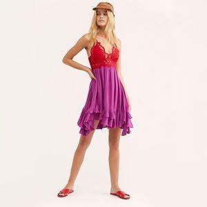 NWT Free People Adella Bodice Lace Slip Dress